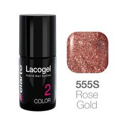 Lakier hybrydowy Lacogel nr 555S - Rose Gold 7ml